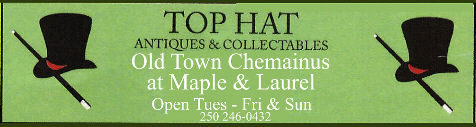 Ad for Top Hat Antiques and Collectibles